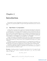 Tutoriel Informatique 1 (CPUGE, première année) 2