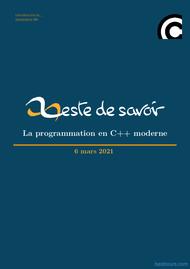 Tutoriel La programmation en C++ moderne 1