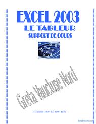 Tutoriel Excel 2003 1