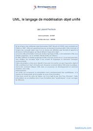 Tutoriel UML, le langage de modélisation objet unifié 1