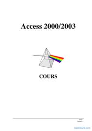Tutoriel Access 2000/2003 première partie 1