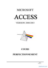 Tutoriel Access 2003 2éme partie 1
