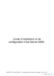 Tutoriel ISA serveur 2006 1