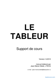 Tutoriel Le tableur 1