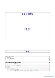 Tutoriel Cours SQL Oracle et PL-SQL 1