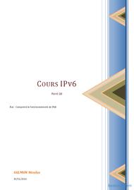 Tutoriel Cours IPv6 1