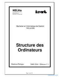 Tutoriel Structure des ordinateurs 1