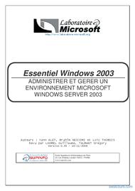 Tutoriel Essentiel Windows 2003 1