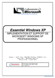 Tutoriel Essentiel Windows XP 1