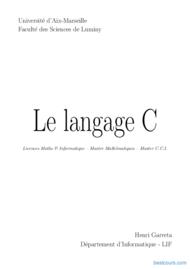 Tutoriel Le langage C 1