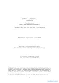 Tutoriel De C++ à Objective-C 1