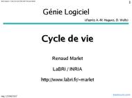 Tutoriel Cycle de vie du logiciel 1