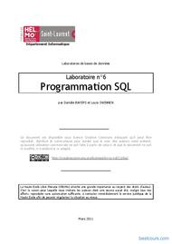 Tutoriel Programmation SQL 1