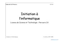 Tutoriel Initiation à  l'informatique 1