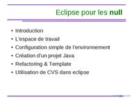 Tutoriel Eclipse pour les nuls 2