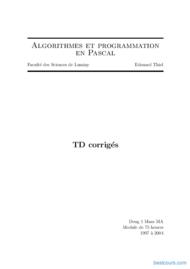Tutoriel Algorithmes et programmation en Pascal 1