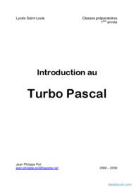 Tutoriel Introduction au Turbo Pascal 1