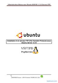 Tutoriel Installation d'un serveur FTP sous  Ubuntu 1