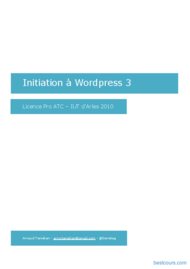 Tutoriel Initiation à Wordpress 3 1