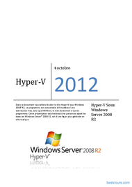 Tutoriel Hyper-V Sous Windows Server 2008 R2 1