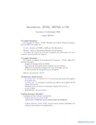 Tutoriel Introduction : HTML, XHTML et CSS 1