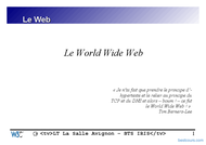 Tutoriel Le World Wide Web (www) 1