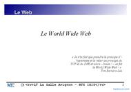 Tutoriel Le World Wide Web (www) 1