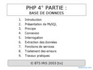 Tutoriel PHP : Base de données 1