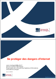Tutoriel Se protéger des dangers d'Internet 1