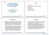 Tutoriel Conduite et gestion de projets informatiques 1