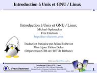 Tutoriel Introduction à Unix et GNU / Linux 1