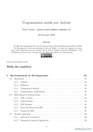Tutoriel Programmation mobile avec Android 1