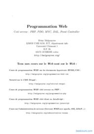 Tutoriel Web Coté serveur : PHP, PDO, MVC, DAL, Controller 1