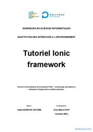 Tutoriel Tutoriel Ionic framework 1