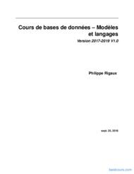 Tutoriel Bases de données - Modèles et langages 1