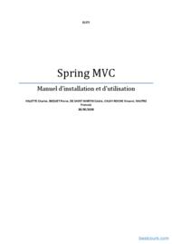 Tutoriel Spring MVC - installation et utilisation 1