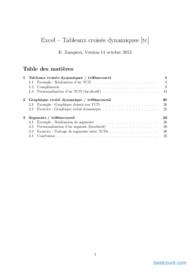 Tutoriel Excel – Tableaux croisés dynamiques 1