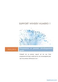Tutoriel WinDev: Présentation et premier développement guidé 1
