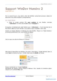 Tutoriel WinDev: Bases de WinDev 2