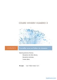 Tutoriel WinDev: Travailler avec un fichier de données 1