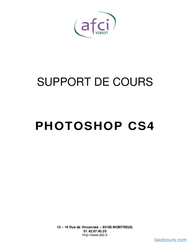 Tutoriel Support de cours Photoshop CS4 1