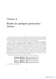 Tutoriel Etude de quelques protocoles réseau 1