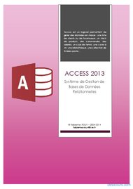 Tutoriel Microsoft Access 2013 1