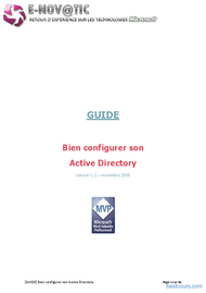 Tutoriel Bien configurer son Active Directory 1