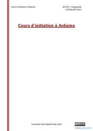 Tutoriel Cours d'initiation à Arduino 1