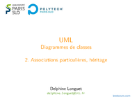 Tutoriel UML: Associations particulières, héritage 1