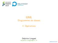 Tutoriel UML: Diagrammes de classes - Opérations 1