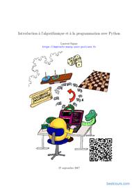 Tutoriel Introduction à l'algorithmique et à la programmation avec Python 1