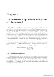 Tutoriel Programmation linéaire et Optimisation 2