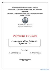 Tutoriel Programmation Orientée Objets en C++ 1